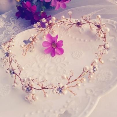 Pearls Beaded Bridal Hair Flower