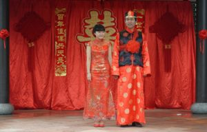 Chinese traditional wedding, Chinese wedding, Chinese folk wedding, traditional wedding, bride and groom, getting married, wedding ceremony